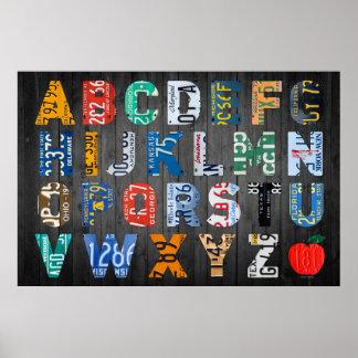 Arte de la placa del alfabeto