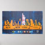 Arte de la placa del horizonte de New York City Posters