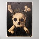 Arte de la plaga negra - cráneo y bandera pirata impresiones