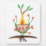 Arte de la planta del niño alfombrilla de ratón