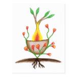 Arte de la planta del niño postal
