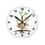 Arte de la planta del niño reloj