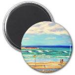 Arte de la playa de Bondi Imanes De Nevera