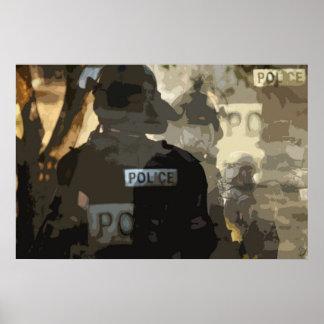 Arte de la policía póster