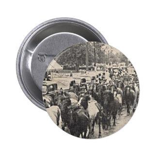 Arte de la postal del vintage de los potros de Chi Pin Redondo De 2 Pulgadas