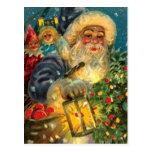 Arte de la postal del vintage del navidad de Papá