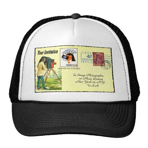 Arte de la postal gorras