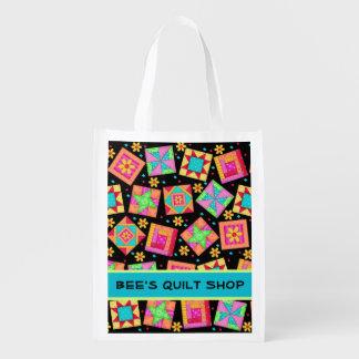 Arte de la promoción del negocio del edredón de bolsa de la compra