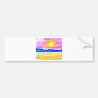 Arte de la puesta del sol del lago ocean de la pegatina para auto
