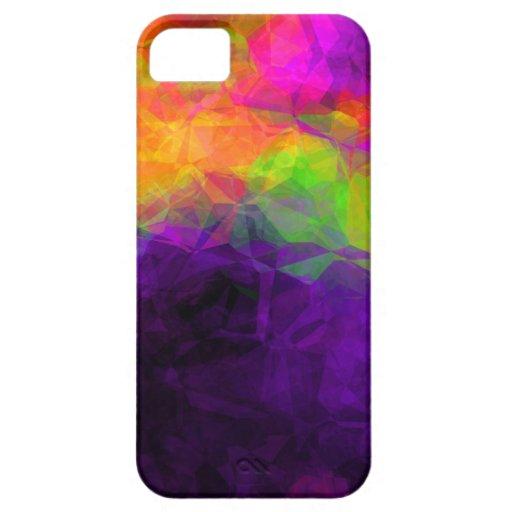 Arte de la púrpura de Excotic iPhone 5 Protectores
