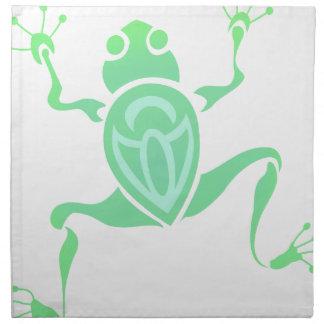 Arte de la rana servilletas imprimidas