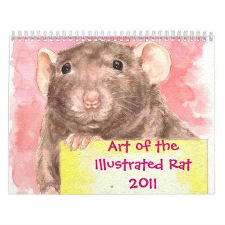 Arte de la rata ilustrada 2011 calendario de pared