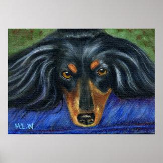 Arte de la raza del perro del Dachshund - Hallie Impresiones