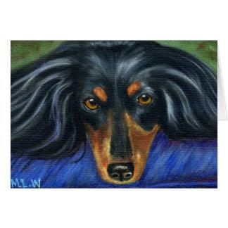 Arte de la raza del perro del Dachshund - Hallie Felicitacion