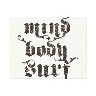 Arte de la resaca del cuerpo de la mente impresiones en lona estiradas