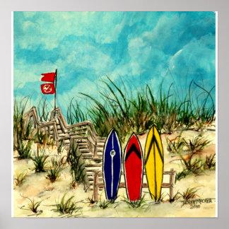 arte de la resaca - tablas hawaianas y dunas de ar impresiones
