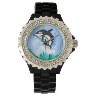 Arte de la roca, ballena relojes de mano