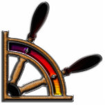 Arte de la rueda de la nave esculturas fotograficas