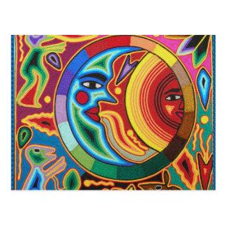Arte de la secuencia de Huichol de México Tarjeta Postal