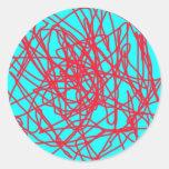 Arte de la secuencia etiquetas redondas