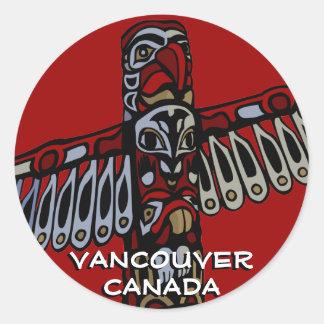 Arte de la señal de Vancouver de los pegatinas de Pegatinas Redondas