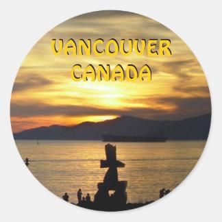 Arte de la señal de Vancouver de los pegatinas de Pegatina Redonda