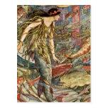 Arte de la sirena del Victorian por H J Ford Tarjetas Postales