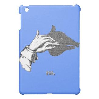 Arte de la sombra de la mano del CERDO de un libro