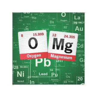 ARTE de la tabla periódica de OMG Impresion De Lienzo