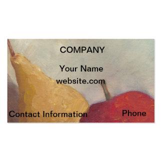 Arte de la tarjeta de visita de Apple de la pera d