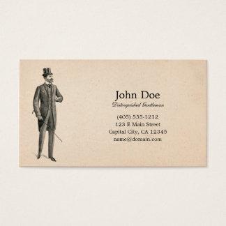 Arte de la tarjeta de visita del caballero del