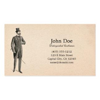 Arte de la tarjeta de visita del caballero del Vic