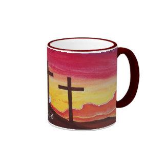 Arte de la taza de café del 3:16 de Juan de la