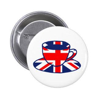 Arte de la taza de té de la bandera de Union Jack Pins