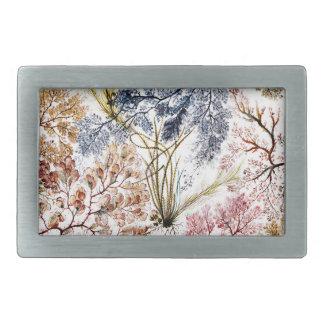 Arte de la tela de seda de la alga marina hebilla cinturón rectangular