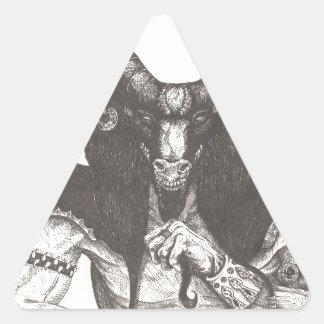 Arte de la tinta del demonio pegatina triangular