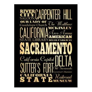 Arte de la tipografía del estado de California de Postales