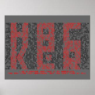 Arte de la tipografía del manifiesto del pirata in póster