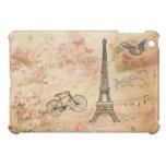 Arte de la torre Eiffel del vintage iPad Mini Cárcasas