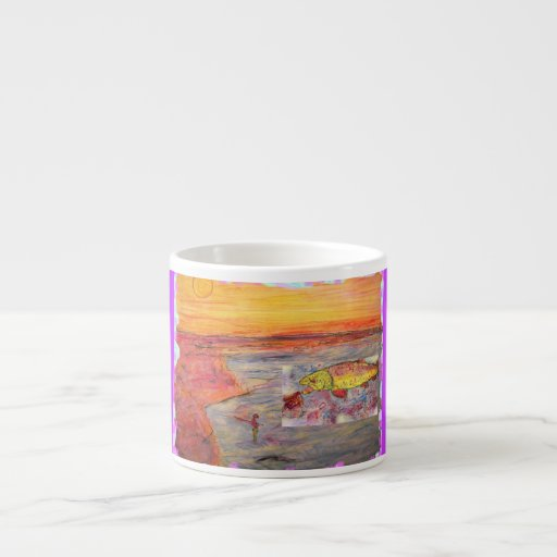 arte de la trucha arco iris tazitas espresso