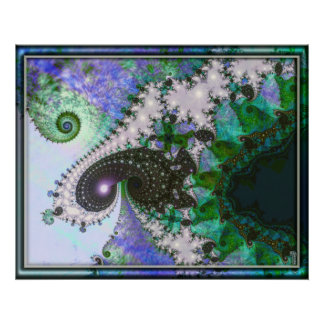 Arte de la variación 4 de los espirales que tuerce posters