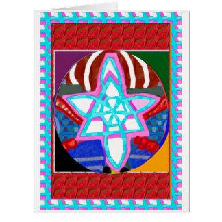 ARTE de la VENTA en símbolos que cuidan de la cura Tarjeta De Felicitación Grande