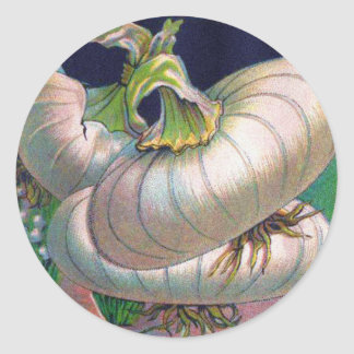 Arte de la verdura del paquete de la semilla de la pegatina redonda