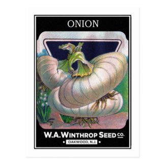 Arte de la verdura del paquete de la semilla de la postal