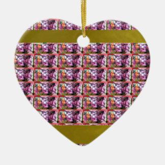 Arte de la vertical de la PLANTILLA Adorno Navideño De Cerámica En Forma De Corazón