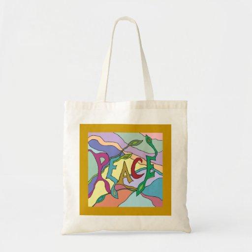 arte de la vid de la paz bolsa tela barata