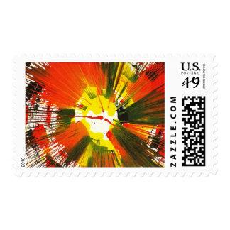 Arte de la vuelta de los colores de la caída de la sello