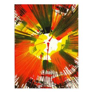 Arte de la vuelta de los colores de la caída de la postal