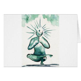 Arte de la yoga - medio equilibrio del dedo del tarjeta de felicitación