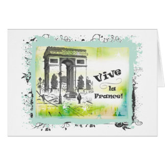 Arte de L'Arc de Triomphe Collage Felicitación